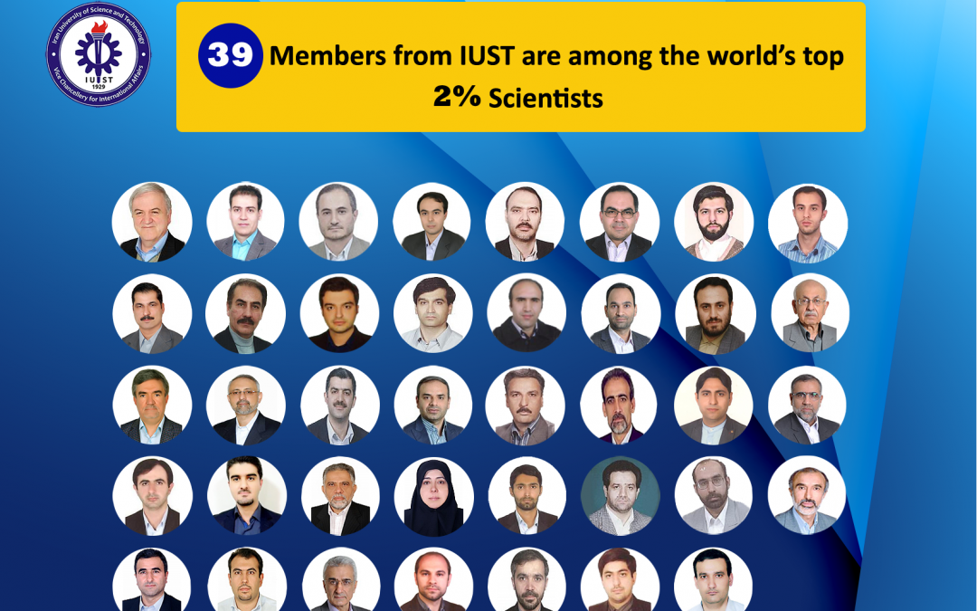 39 Members of IUST are among the Top 2% of Scientists Worldwide